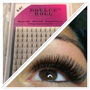 Dollce Doll Premade Russian Volume Lash Fans 5D SHORT STEM Eyelash Extension