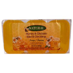 Honey Glycerine Natural Soap Bar 3 x 85g (3 x 3oz)