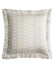 Pratesi Check Jaquard European Square Pillow Sham Beige Egyptian Cotton