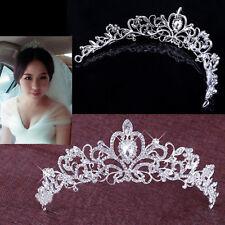 Women Hollow Out Crown Rhinestone Bride Headband Tiara Wedding Headwear Showy