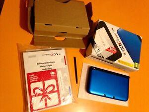 Nintendo 3 Ds Xl Bleue Avec Boîte D'origine Notices Stylet