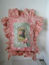 "French Country Pink Toile ""To My Dear Friend"" custom Pillow 23"" x 17"" complete"