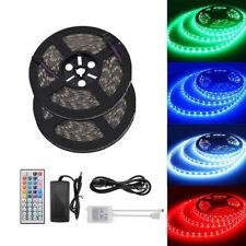 5M 10M 24V 5050 RGB Strip Streifen Wasserdicht Lichterkette Controller Netzteil