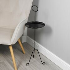 Round Metal Side End Tables Bedside Nightstand Living Room Furniture Home Decor