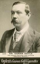Sir Arthur Conan Doyle Sherlock Holmes Author Cigarette Card Portrait 7x5' Photo