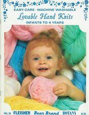 Vintage Lovable Hand Knits Infants - 4 Years Fleisher Bear Brand Botany Patterns