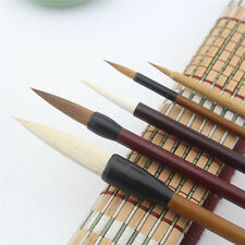 5 Pcs/Set Chinese Water Ink Painting Sumi-e Flower Bird Brush + 1Pcs Bamboo Roll