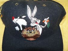 "Bugs Bunny Taz Sylvester Tweety  Wool  Baseball Cap Hat ""That's All Folks!"" 1991"