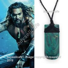 2018 Movie AQUAMAN Maori Jade Toki Pendant Necklace Hand Carved Prop Cosplay NEW