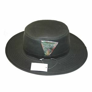 Country Classics Mens Fishing Wax Aussie Outback Bush Hat with Wide Brim Feather