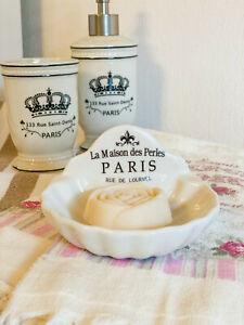 Clayre & Eef Badezimmer Seifenschale Muschel PARIS Shabby Landhaus