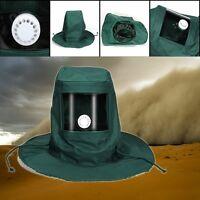Anti Wind Dust Blasting Hood Sand Abrasive Sandblaster Cap Mask Protective Tools