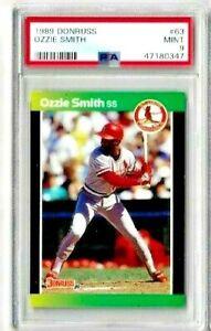 1989 Donruss Ozzie Smith PSA 9