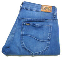 LEE WOMENS SIZE 9 MEASURED W28 X L30 TAPERED ZIPPED ANKLE BLUE JEANS FREE POST