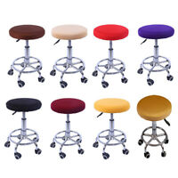 11-14'' Bar Stool Covers Round Chair Seat Cover Cushions Sleeve Slipcover