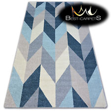 """AMAZING THICK MODERN SOFT RUGS """"NORDIC"""" blue fir floor carpet small large"""