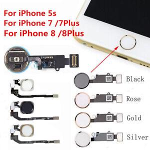 For iPhone 5S 7 /7Plus Touch Fingerprint ID Sensor Home Button Key Flex Assembly