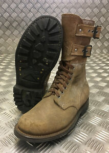 Genuine French Foreign Legion Brown Leather / Suede Army Boots Size 40 NEW FB304