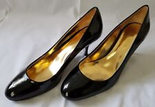 Womens Sz 8B Black Coach Salma Patent Leather Classic Heels Shoes A3042 preowned
