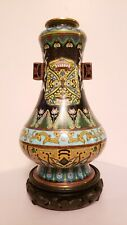 Antique Chinese  very intricate archaistic  Cloisonne Hu arrow vase 19th century