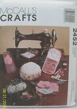 McCall's Crafts Sewing Accessories Pattern 2452 Uncut Organizer Caddy Tote Case