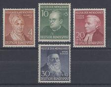 Germany Sc B327-B330 MNH. 1952 Semi-Postals complete, F-VF
