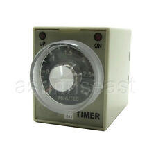 DC24V 3 Minutes 0-3M Power On Delay Timer Time Relay AH3-3 + Socket Base 8-PIN