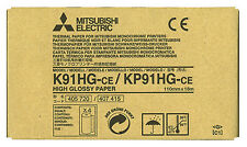 Mitsubishi K91HG/KP91HG High Gloss Paper for P-90 Series Printers 4 rolls/box