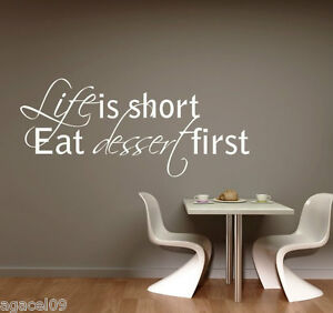 LIFE IS.. KITCHEN  FUNNY HOME WALL QUOTE VINYL ART DECOR STICKER DECAL STENCIL