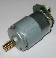 Mabuchi RS-385PH Motor w/ Brass Worm Gear + Optical Encoder - 24 VDC Dual Shaft
