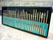 30 pieces THK Diamond coated rotary burrs burr points glass drill bit GRIT 40