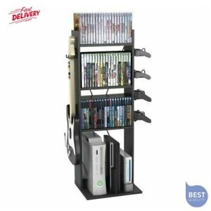 Video Game Central Console Controller Stand Storage Rack Organizer Tower XBOX PS