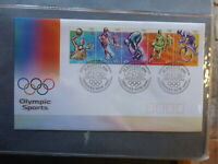 AUSTRALIA 2000 OLYMPIC SPORTS STRIP 5 STAMPS FIRST DAY COVER #2