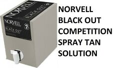 Black Out Airbrush Spray Tan Sunless Competition Tanning Solution Norvell 34oz