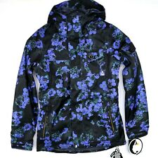 Volcom Activism Womens Size S Insulated Snowboard Jacket Violet Flower Print