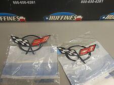 New OEM Emblem Set - 1997-2004 Corvette Both Front Rear (19207384 & 19207385)