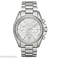 NEW MICHAEL KORS MK5535 LADIES SILVER BRADSHAW WATCH - 2 YEAR WARRANTY