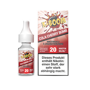 E Liquid K-Boom Cola Cherry Bomb Nikotinsalz Cola Kirsche Himbeerlimonade