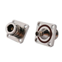 2-Pack N Female Sealed Bulkhead to SMA Female Flange Mount Connector Adapter