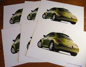 "1999 VW Volkswagen Turbo Beetle Bug Poster Brochure LOT (6) pcs, BIG 12 X 16"""