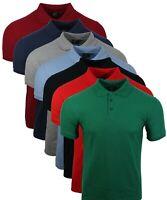 Men's Short Sleeve DCT Small Plain Block Colour Summer Polo T Shirt Tops