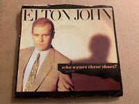 ELTON JOHN WHO WEARS THESE SHOES? VINYL 45RPM SINGLE GEFFEN