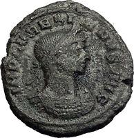 AURELIAN  274AD  RARE As Denomination Concordia Sol Ancient Roman Coin i58145