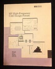 Hewlett Packard HP 5091-5378E High Frequency CAE Design Forum Manual