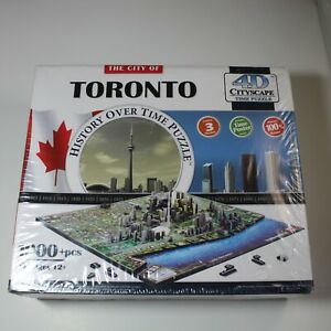 History Overtime 4D Cityscape Time Puzzle Toronto New Sealed Box  1000 pieces