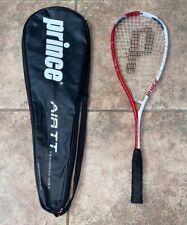 Prince Air Drive 140 Air Tt Triple Threat Power Scoop Squash Racquet w/ Bag