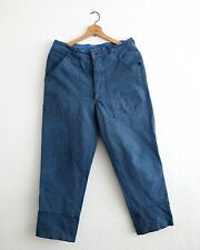 Vintage blue overdyed swiss workwear denim trousers, W32, L29.5,