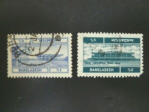 1974-75 Bangladesh Scott #82-83 Used - See Description & Images