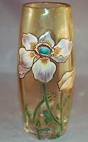 OUTSTANDING Mt. Joye Enameled Victorian Small Vase!  Exquisite Detail!