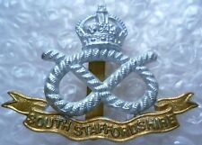 Badge- South Staffordshire Regiment Cap Badge KC (Bi-Metal)